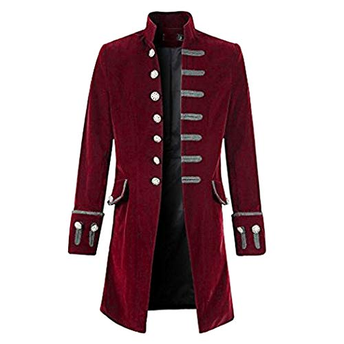 French Aristocrat Costume - Mens Steampunk Victorian Medieval Jacket Viking
