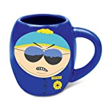 Vandor 39064 South Park Respect My Authority 18 oz Oval Ceramic Mug, Blue