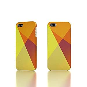 Apple iPhone 5 / 5S Case - The Best 3D Full Wrap iPhone Case - Abstract Orange