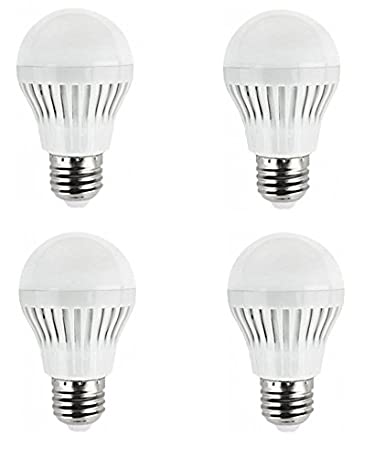 Lote de 4 irrompible, bombilla LED E27, 5 W equivalente a 40 W luz blanco frío (6400 K) - Power: Amazon.es: Iluminación
