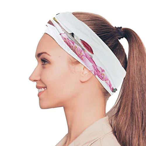 Danexwi European Goldfinch Carduelis Bird Elastic Headbands Head Wrap Shawl Sports Sweatband Face Mask Magic Scarf Hair Accessories Bands Ties for Women Men Girls Running Workout Fitness Yoga