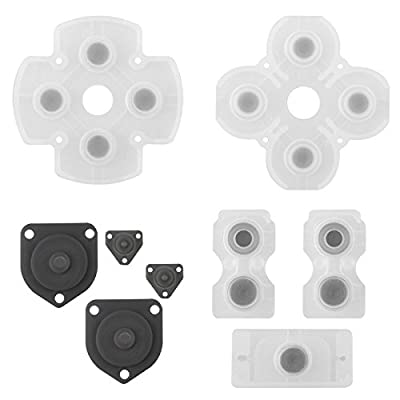 Gotor All Set Of Replacement Rubber Conductive Button Pad Kit Rubber Conductive Button Pad Kit for Playstation 4 PS4 from Gotor