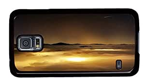 Hipster Samsung Galaxy S5 Case retro covers Over Clouds View PC Black for Samsung S5