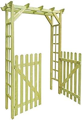 Rose Garden pérgola puerta del cobertizo con 2 puertas de madera,A: Amazon.es: Hogar