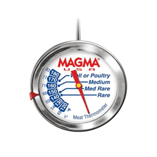 Magma A10275 New Marine Grade Stainless Steel Gourmet Meat Thermometer Marine RV Boating Accessories ()