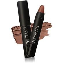 Matte Lipstick Waterproof Lip Gloss Professional Makeup Pencil Natural Moisturizing Soft Long Lasting Lipstick (US Stock)