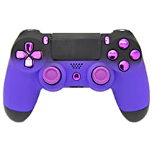 """Purple & Black Fade """"Soft Touch"""" Modded PS4 Rapid Fire Controller, Works With All Games, COD, Rapid Fire, Dropshot, Akimbo & More"""