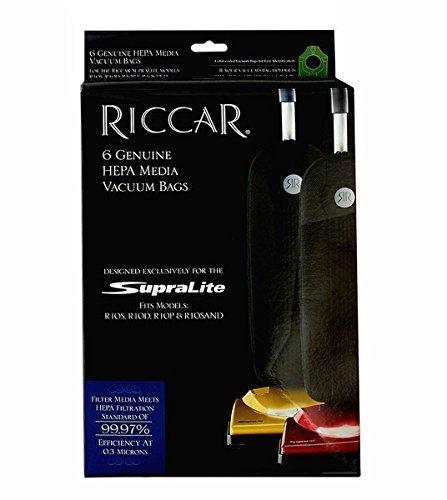 RICCAR SUPERLITE HEPA VACUUM BAGS, RLH-6 (Bags 6 Hepa Vacuum)