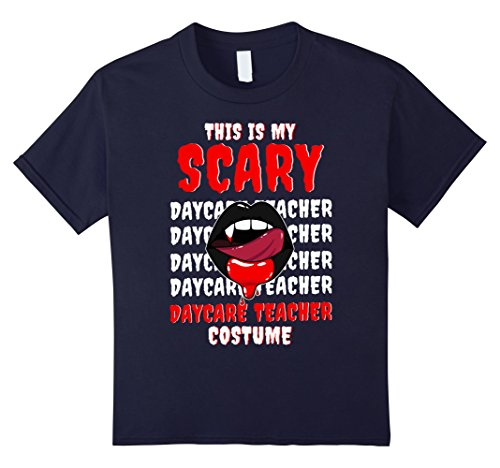 Kids This Is My Scary Daycare Teacher Costume Cool T-shirts 12 Navy (Daycare Teacher Halloween Costumes)