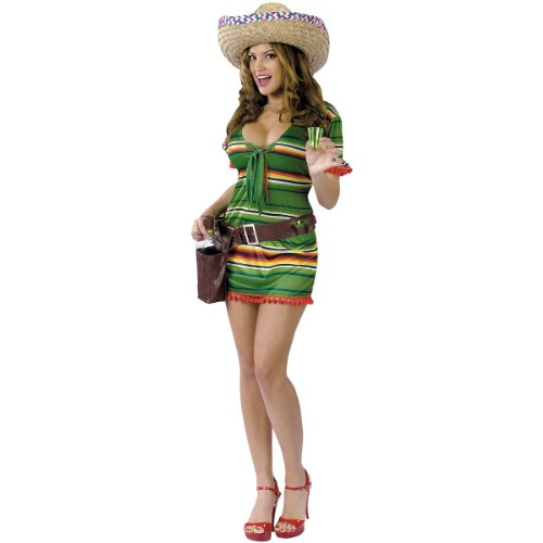 [FunWorld Women's Happy Hour Sexy Shooter, Green, S/M 2-8 Costume] (Sexy Haloween Costumes)
