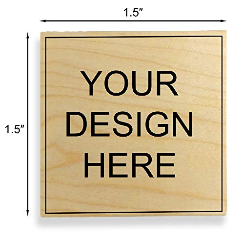 "Custom Art Mount Rubber Stamp. Max. Image Size: 1-1/2"" high x 1-1/2"" Wide (38mm x 38mm) - Many Sizes to Choose from - Upload Your Own Artwork"