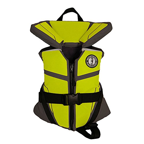 Mustang Survival Corp Lil' Legends 100 Infant Life Vest, Gray/Fluorescent Yellow Green