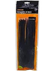 Abraçadeira Foxlux – Nylon – 100 x 2,5mm – Proteção UV – Embalagem Ziploc – Pacote com 100 unidades – Preta