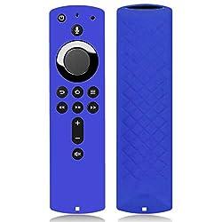 Afazfa for Amazon Fire TV Stick 4K TV Stick Remote Silicone Case Protective Cover (Blue)