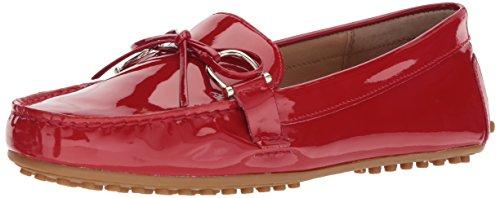Lauren Ralph Lauren Women's Briley Driving Style Loafer, Red, 9 B US (Lauren Ralph Leather Womens)