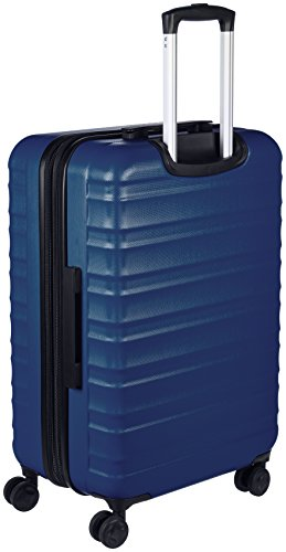 AmazonBasics Hardside Spinner Travel Luggage Suitcase - 24 Inch, Navy Blue
