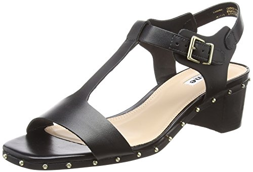 Femme Isadora Black black Leather Salomés Leather Noir Dune qEPpPT