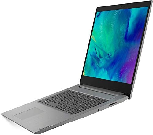 "2020 Lenovo IdeaPad 3 17"" Laptop, AMD Ryzen 7 3700U, Webcam, Fingerprint Reader, Numeric Keypad, Bluetooth, HDMI, AMD Radeon Vega 10 Graphics, Windows 10, Platinum Grey (12GB