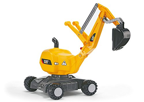 rolly toys CAT Construction Ride-On: 360-Degree Excavator/Shovel Digger, Youth Ages (Cat Backhoe Tractor)