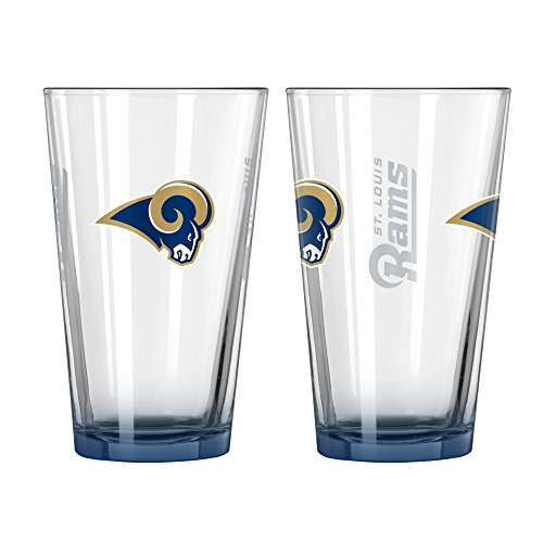 (NFL Rams Elite Pint Glasses | St. Louis Rams Beer Glasses - Set of 2)