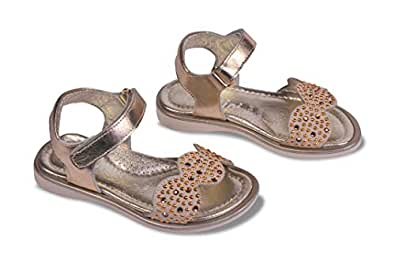 Amici Shoes Beige Flat Sandal For Girls