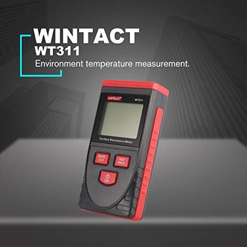 LasVogos WINTACT WT311 Anti-Static Surface Resistance Handheld Earth Resistance Meter
