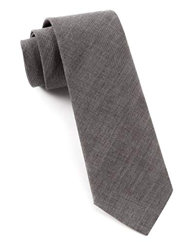 - The Tie Bar 100% Cotton Warm Gray Classic Chambray 3 Inch Tie