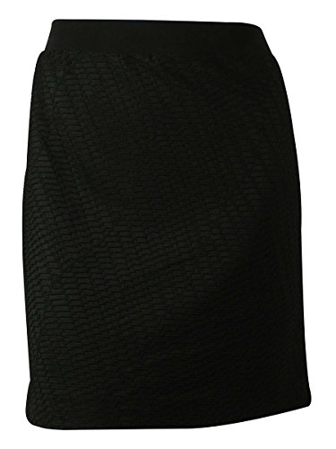 NY Collection Women's Pencil Skirt (1X, Black)