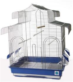 Erica grande jaula de pájaros cromado para Budgie Canario 62 ...