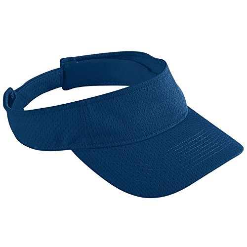 (Augusta Activewear Athletic Mesh Visor-Youth, Navy, One Size)