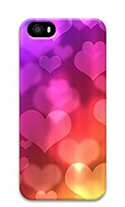 iPhone 5s Cases & Covers - Colored Heart-shaped Background Image Custom PC Soft Case Cover Protector for iPhone 5s