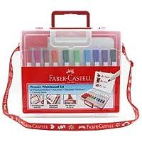 FABER-CASTELL 5040000001 Çantalı Beyaz Tahta Kalemi, 10 Renk