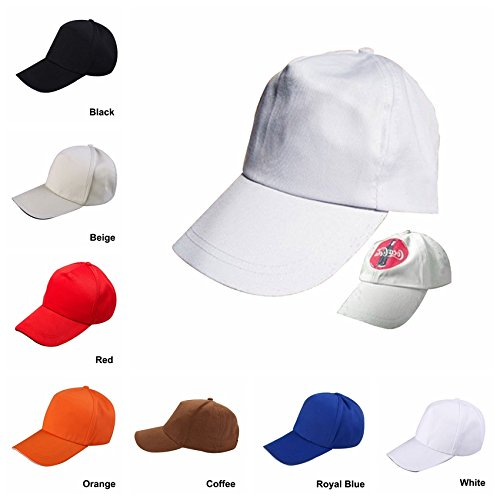 4f0aa62ffec Amazon.com  Plain Blank Sublimation Cap White Polyester Heat Transfer Baseball  Caps Hat with Adjustable Snapback Wholesale Lot 12pcs Pack  Office Products