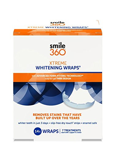 14 Day Treatment - Smile 360 Xtreme Teeth Whitening Wraps, 7 Day Treatment, 14 Count