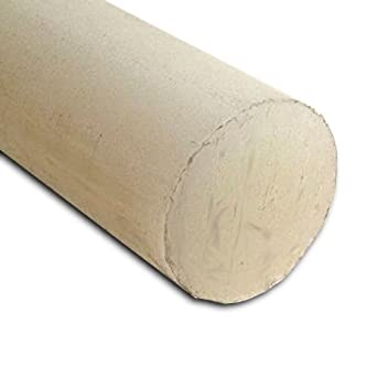 - Natural Extruded Nylon 6//6 Round Rod 48 Length x 1//4 Diameter