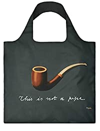 LOQI Reusable Tote Bag, The Treachery of Images, Multi-Colored Print, International Carry-on