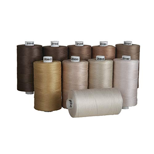 - Connecting Threads 100% Cotton Thread Sets -1200 Yard Spools (Neutral)
