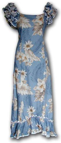 Muumuu Hawaiian Dresses The Luau Blue S 334-3162