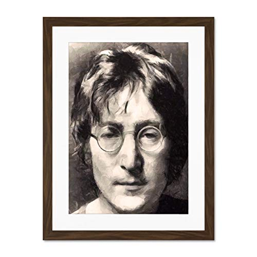 Beatles Portrait - Doppelganger33 LTD Painting Portrait Beatles Singer John Lennon Large Art Print Poster Wall Decor 18x24 inch Supplied Ready to Hang with Included Mount Brackets