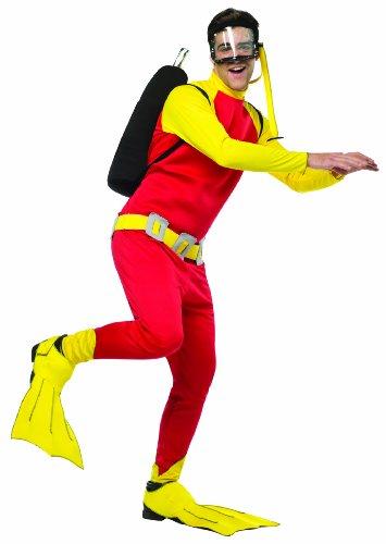 [Rasta Imposta Men's Scuba Guy, Red/Yellow/Black, One Size] (Scuba Costume Child)