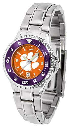 (Clemson Tigers - Competitor Ladies' Steel AnoChrome - Color Bezel)