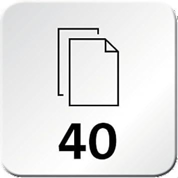 easy blau Novus B 4 Color ID Vollmetall Heftger/ät 40 Blatt, mit gl/änzender Kunststoffummantelung, inkl. 200 Heftklammern