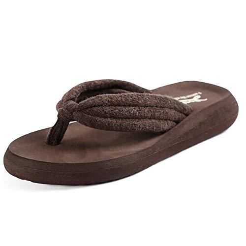 Respirante Dames Avec Plage Brown black Eva 38 Chaussures Accueil Semelle Tongs De Shangxian Intérieure Été I8pwdxHH