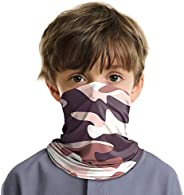 LUNGEAR Kids Face Cover Bandanas Neck Gaiter Headband UV Protection Balaclavas for Boys and Girls Fishing Cycl