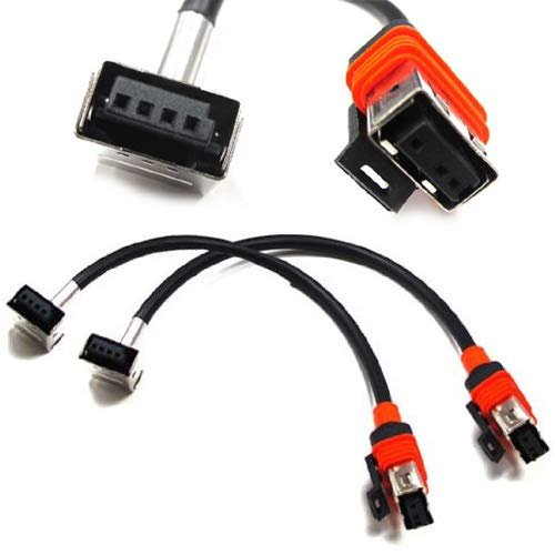iJDMTOY (2) D1S D1R HID Xenon Bulbs Replacement Power Cords Cables For OEM D1 HID Ballasts ()