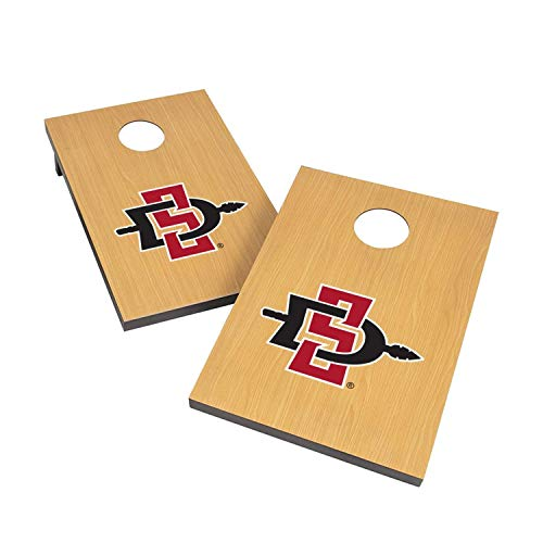Victory Tailgate NCAA 2x3 Travel Cornhole Set - 2 Boards, 8 Bags - San Diego State Aztecs
