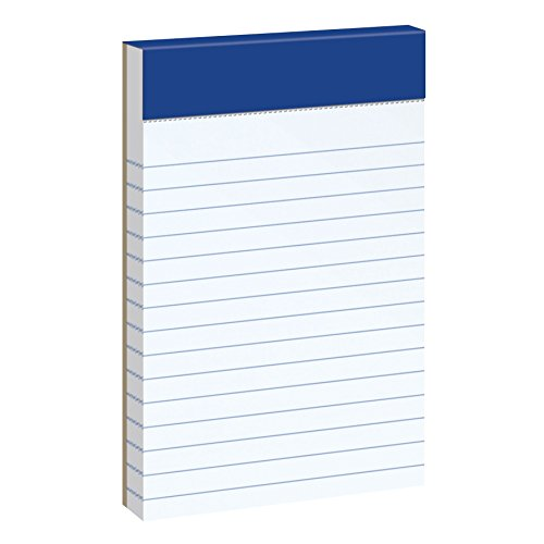 Ampad Mini Notepad, Narrow Ruled, 50 Sheets, White, 3