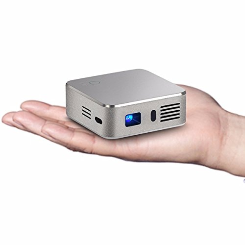 DLP Beamer Porjektor, ELEGIANT Super Mini Beamer LED WIFI Bluetooth Beamer Projektor Portable wireless DLP Projector Android 4.4.4 1GB/8GB RK3128 Quad Core 120LM 480P Heimkino Beamer Multimedia Player Display Projectors IOS Iphone Ipad Same Display für Heimkino Zuhause Draußen Garten Kino Home Theater Cinema