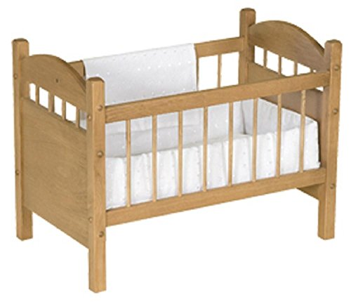 Deluxe Wood Doll Crib Heirloom Quality Made in the USA, Natural Finish by Clip Clop