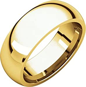 7mm Comfort Fit Band in 18k Yellow Gold - Size 10.5